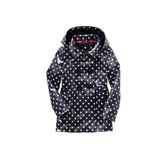 Uniform dot raincoat