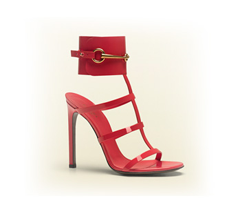Gucci Ursula Ankle-Strap Sandals (begonia)