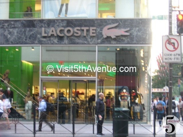 lacoste shoes store near me nyc dmv offices manhattan