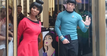 STAR TREK characters Uhura and Spock at M.A.C. 691 5th Avenue