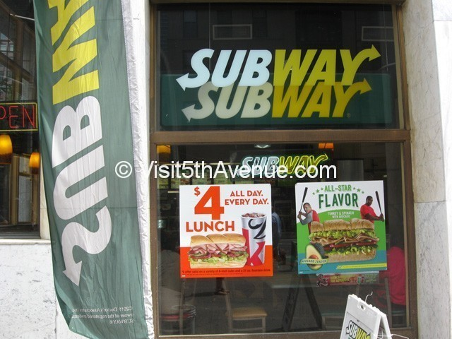 Subway 261 5th Avenue is now closed
